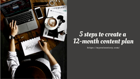 5 steps to create a 12-month contentplan