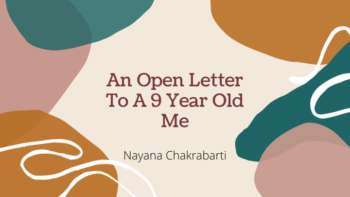 An Open Letter To A 9-year Old Me