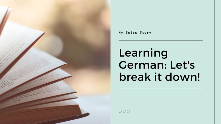 Learning German: Let's break it down!